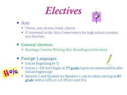 online class high school middle school course selection parent forum ppt online