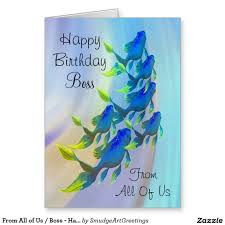 happy thanksgiving boss from all of us boss happy birthday fish card