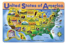 map usa jigsaw u s a map wooden jigsaw puzzle puzzlewarehouse
