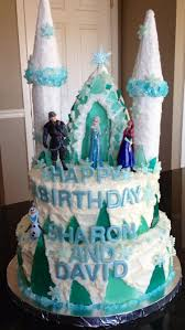 disney frozen cake by cakes by clarke pretty shades of blue