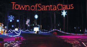 santa land here lighted sign top 9 christmas towns in indiana