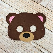 bear halloween mask brown bear mask felt brown bear mask for birthday parties