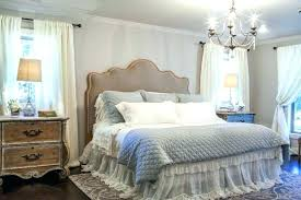 french country headboard xvi style natural oak linen tufted