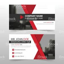 red black corporate business card header template flat design set