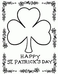st patricks day coloring pages getcoloringpages pertaining to st