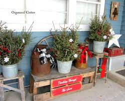 organized clutter junkers unite with an outdoor rustic christmas