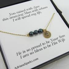 gifts for mothers to be of the groom personalized bracelet with thank you card