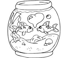 small fish template kids coloring