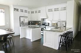 Before And After White Kitchen Cabinets Pneumatic Addict Stacked Cabinet Kitchen Makeover