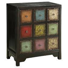 Multi Drawer Wooden Cabinet Storage Cabinet Three Drawer Multi Colored Christopher Knight