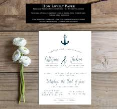 Single Card Wedding Invitations Nautical Wedding Invitations Wedding Invitation Templates