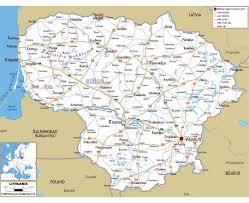 Baltic States Map Maps Of Lithuania Detailed Map Of Lithuania In English Tourist