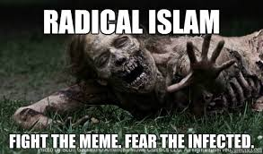 Fear Meme - radical islam fight the meme fear the infected the walking