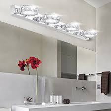 crystal sconces for bathroom modern k9 led bathroom make up crystal mirror light round head