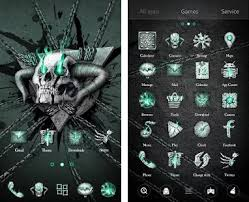 skull apk hell skull go launcher theme apk version v1 0 62
