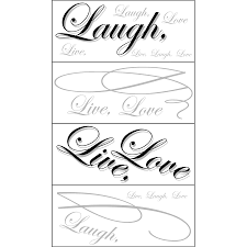 shop allen roth live love laugh snap wall art at lowes com