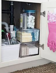 under the sink bathroom organizer under the sink organization bathroom and kitchen organizing tips