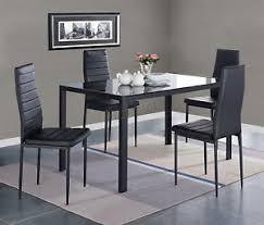 table avec 4 chaises westwood verre salle à manger table avec 4 chaises simili cuir à