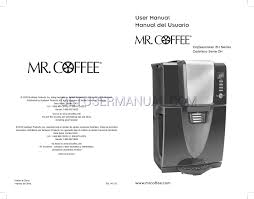 mr coffee coffee makers bvmc zh1b user u0027s manual download free