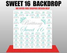 custom photo backdrops s sweet 16 5 x 8 step and repeat backdrop best of