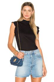 lyst iro flavia top in black
