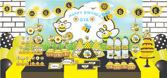 bumble bee decorations bumble bee theme party bumble bee birthday party supplies