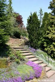 Landscaping Ideas Hillside Backyard Landscaping A Steep Hillside Steep Hillside Stairs Landscape