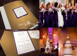 purple and gold wedding invitations monogram designs a vibrant wedding