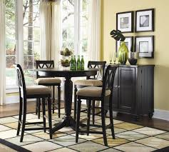 Dining Room Ideas Traditional Dining Room Traditional Black Solid Wood Round Height Table