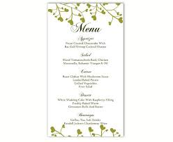wedding menu template diy menu card template editable text free