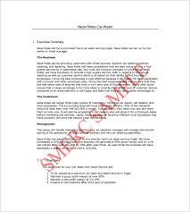 car wash business plan template u2013 14 free word excel pdf format
