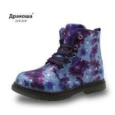 s boots waterproof apakowa floral autumn winter toddler s boots