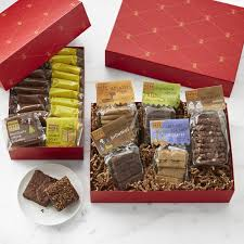 cookie gift deer brownie cookie gift box set williams sonoma