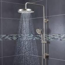 Lowes Shower Head Bathroom Sensational Rainfall Shower Head For Best Shower Idea