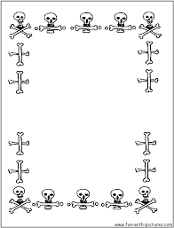Halloween Picture Borders by Borders Coloring Page