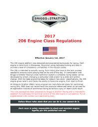 junior 206 racing engines briggs racing