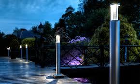 exterior bollard application branch a cool new led garden light