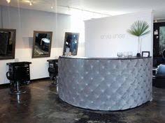 tufted salon reception desk popular black velvet tufted curved desk for reception office with 3