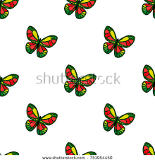 abstract seamless butterfly pattern boys stock vector