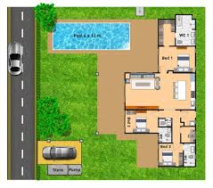 House Plans With A Pool Baby Nursery Villa Plans With Swimming Pool Villa Plans With