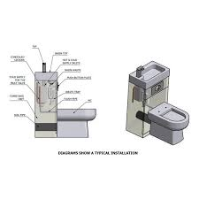 space saver sink and toilet manhattan gloss grey space saving toilet with sink combined