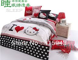 Hello Kitty Duvet Stylish Hello Kitty Bedroom Set Queen Aliexpress Buy Hello Kitty
