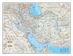 Map Of Abu Dhabi National Geographic Iran Wall Map Maps Com