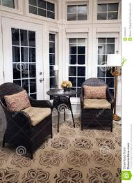 floor to ceiling windows in sunroom royalty free stock photo