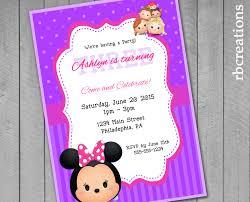 personalized minnie mouse invitations minnie mouse tsum tsum party invitations tsum tsum birthday