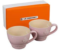 sakura bistro mugs set of 2 le creuset