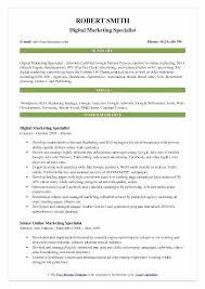digital marketing resume digital marketing resumes