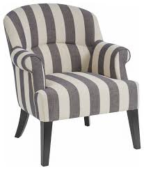Blue And White Accent Chair Blue White Striped Armchair Houzz