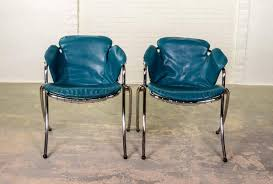 Pair Of MidCentury Italian Dining Chairs Lynn By Gastone Rinaldi - Italian design chairs
