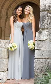 grey bridesmaid dresses chiffon bridesmaid dresses it girl weddings